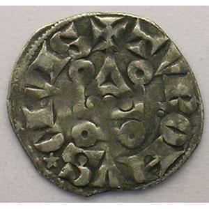 Numismatic foto  Coins French royal coins Philippe IV   (1285-1314) Duplessy 225   Denier Tournois à l'O long TTB/TTB+