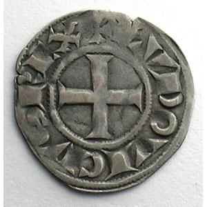 Numismatic foto  Coins French royal coins Louis VIII   (1223-1226)  ou Louis IX   (1226-1250) Duplessy 188   Denier Tournois TTB