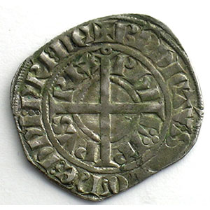 Numismatic foto  Coins French royal coins Philippe VI   (1328-1350) Duplessy 262A   Gros à la Couronne, 2° émission TTB