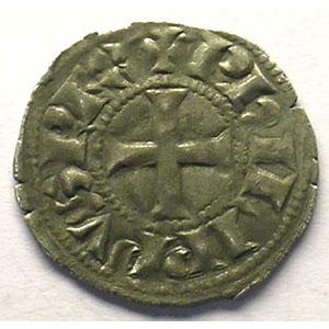 Numismatic foto  Coins French royal coins Philippe IV   (1285-1314) Duplessy 223   Denier Tournois à l'O rond TTB+
