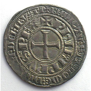 Numismatic foto  Coins French royal coins Philippe IV   (1285-1314) Duplessy 213   Gros Tournois à l'O rond TTB+