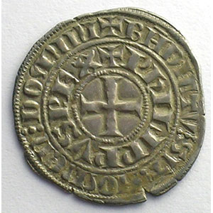Numismatic foto  Coins French royal coins Philippe IV   (1285-1314) Duplessy 219   Maille tierce à l'O rond TTB+