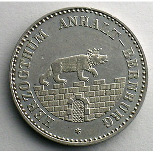 Numismatic foto  Coins Germany Duchy of Anhalt-Bernburg Alexandre Charles   (1834-1863) 1/6 Thaler   1861 A    TTB+
