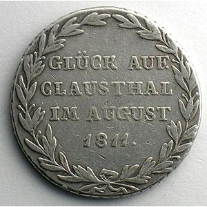 Numismatic foto  Coins Germany Kingdom of Westphalia Hieronymus Napoleon   (1807-1813) Gulden   1811 C  (Cassel)    TB+