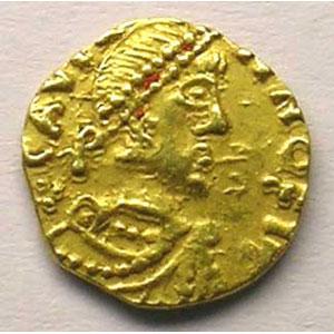 Numismatic foto  Coins Merovingian coins Chalon-sur-Saône Tiers de sou d'or    TTB