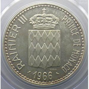 Numismatic foto  Coins Monaco Rainier III   (1949-2005) G.155   10 Francs Charles III 1966 Essai    PCGS-MS65    FDC