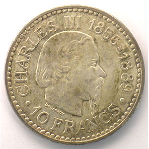 Numismatic foto  Coins Monaco Rainier III   (1949-2005) G.155   10 Francs Charles III 1966    SUP/FDC