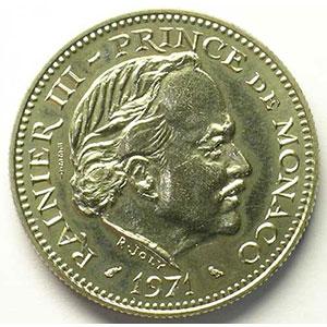 Numismatic foto  Coins Monaco Rainier III   (1949-2005) G.153   5 Francs Rainier III 1971  Essai    FDC