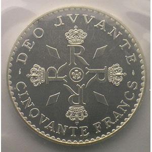 Numismatic foto  Coins Monaco Rainier III   (1949-2005) G.162   50 Francs, 25° anniversaire de règne 1974 Essai    FDC
