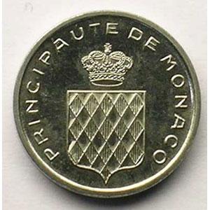 Numismatic foto  Coins Monaco Rainier III   (1949-2005) G.144   1 Centime Rainier III 1976  Essai    FDC
