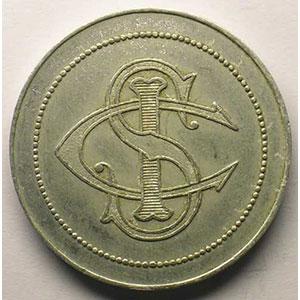 Numismatic foto  Coins Monaco Monnaies de nécessités Sporting Club International Elie 75.2   5(F)   Al, R   32mm    TTB