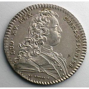 Numismatic foto  Coins Tokens and Medals Numismatique du Notariat français (jetons de Notaires) Coners du Roy et Notaires Jeton en argent   Louis XV   1720    SUP