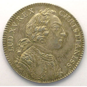 Numismatic foto  Coins Tokens and Medals Royal tokens Extraordinaire des Guerres jeton rond en argent   Louis XV   1745    TTB