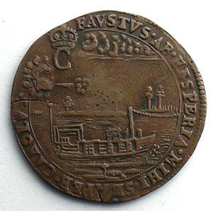 Numismatic foto  Coins Tokens and Medals Royal tokens Bruxelles jeton rond en cuivre   Henri van Eesbeke, intendant du canal de Bruxelles   1667    TTB