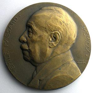 Numismatic foto  Coins Tokens and Medals Numismatique de la Ville de Paris Emile Massard Médaille en bronze  63mm   Conseiller municipal 1904-1930    SUP/FDC