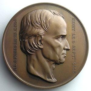 Numismatic foto  Coins Tokens and Medals Numismatique des Arts Architecture Médaille en bronze  72mm   Charles Percier (1764-1838)    SUP/FDC