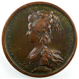 Numismatic foto  Coins Tokens and Medals Medals of Louis XVI année 1781 Médaille en bronze   74mm   Louis XVI et Marie-Antoinette   1781    SUP