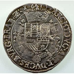 Numismatic foto  Coins World coins Spanish Netherlands Brabant 1/4 Patagon   Albert et Isabelle  (1598-1621)   1619  S-Hertogenbosch  (Bois-le-Duc)    TTB+