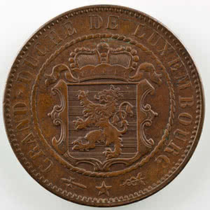 Numismatic foto  Coins World coins Luxembourg William III   (1849-1890) 10 Centimes   1854    SUP