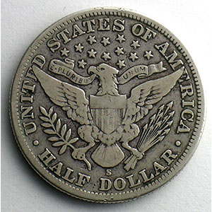 Numismatic foto  Coins World coins United States 1/2 Dollar Barber 1900 S  (San Francisco)    TB