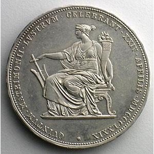 Numismatic foto  Coins World coins Austria François Joseph I   (1848-1916) 2 Florins   1879   Noces d'argent/ Silberhochzeit    SUP