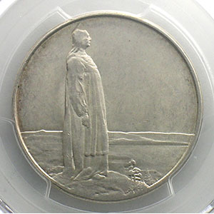 Numismatic foto  Coins World coins Norway Haakon VII   (1905-1957) 2 Kroner   1914    PCGS-AU58    SUP