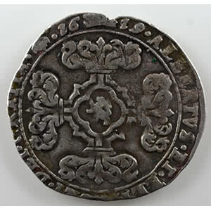 Numismatic foto  Coins World coins Spanish Netherlands Brabant 3 Stuiver   Albert et Isabelle  (1598-1621)   1619  Bruxelles    TB+/TTB