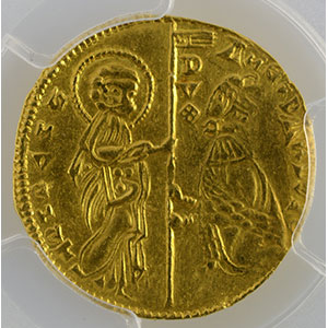 Numismatic foto  Coins World coins Italy Doges of Venice Ducat   Andrea Dandolo  (1343-1354)    PCGS-AU55    TTB+/SUP