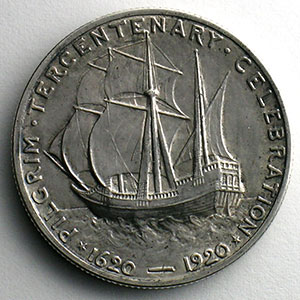 Numismatic foto  Coins World coins United States Commemorative coinage Half Dollar   1920   Pilgrim Tercentenary    SUP