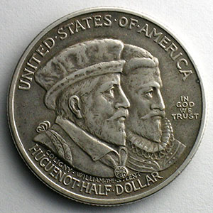 Numismatic foto  Coins World coins United States Commemorative coinage Half Dollar   1924   Hugueno-Walloon tercentary    TTB+