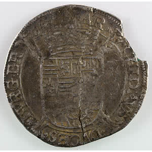 Numismatic foto  Coins World coins Spanish Netherlands Brabant Schilling au Paon (Pauwenschelling)   Albert et Isabelle  (1598-1621)   non daté  Bruxelles    TB+/TTB