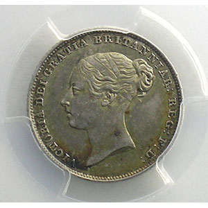 Numismatic foto  Coins World coins Great Britain Victoria   (1837-1901) Six pence   1851   PCGS-MS63    SUP/FDC
