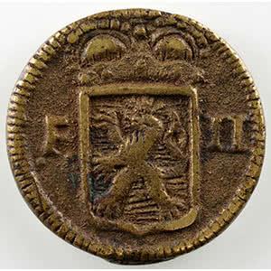 Numismatic foto  Coins World coins Luxembourg Siège de Luxembourg   1795 Sol obsidional coulé en métal de cloche   1795    TTB+