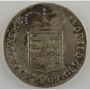 Numismatic foto  Coins World coins Luxembourg Léopold II   (1790-1792) VI Sols   1790 H  (Günzburg)    TB+