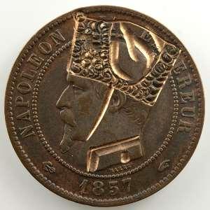 Colback des Hussards sur 10 cent. 1857 A    TB+/TTB