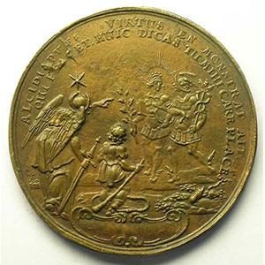 DADLER   Convention de Leipzig   1631   Médaille coulée en cuivre   49mm    TTB