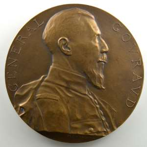 DAMMANN   Général Gouraud/Libération de Strasbourg   22 novembre 1918   bronze   68mm    SUP/FDC