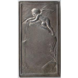 Daniel-Dupuis J.B.   Plaque en argent  35x66mm   La Source (1898)    SUP/FDC