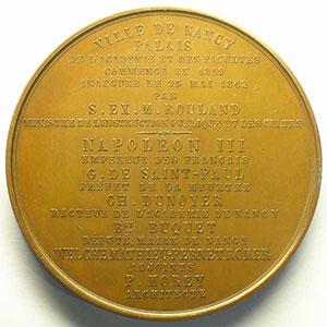 DANTZELL   Inauguration du Palais des Facultés 25-5-1862 cuivre    SUP