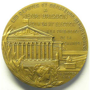 DAUSSIN   Bronze   57mm   1908    SUP
