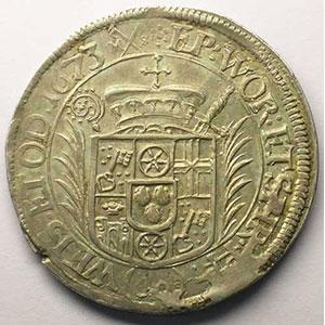 Dav.648   60 Kreuzer   Lothar Friedrich von Metternich-Burscheid   1673    TTB/TTB+