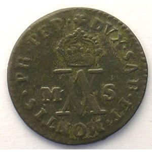 Demi-Soldo   Victor Amédée III  (1773-1796)   1781  (Turin)    TTB