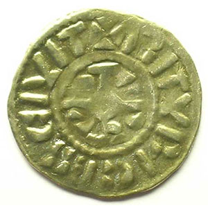Denier   (Charles II empereur 875-877 ou Charles le Gros empereur 881-887)    TB+/TTB