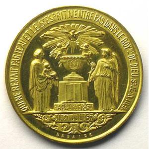 DESAIDE   Médaille en or   29mm   1er mai 1869    SUP