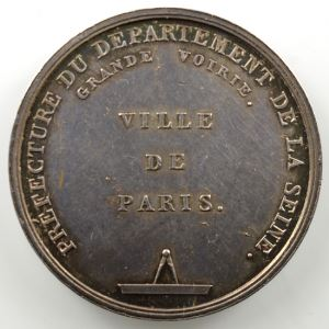 Desnoyers   Médaille en argent   Grande voirie de Paris   1814    SUP