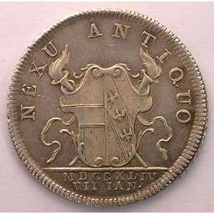 Donner   Médaille de Mariage avec l'archiduchesse Marie-Anne   argent   28mm   1744    TTB+