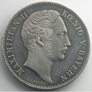 Double Thaler   1852    SUP   nettoyée/cleaned