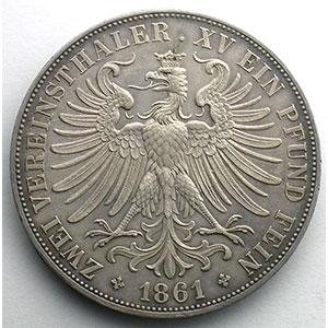 Double Thaler   1861    TTB/SUP