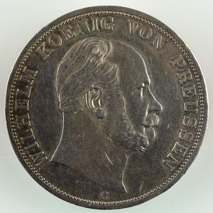 Double Thaler (Doppeltaler) 1867 C (Clèves) TTB