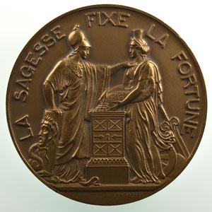 Dumarest   150ème anniversaire de la Banque de France   1800-1950   bronze   68mm    SUP